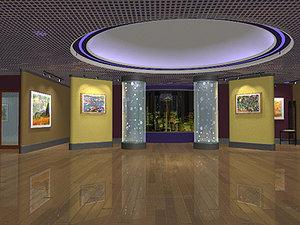 museum environment 3d model