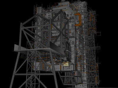 space shuttle launch tower 3d model