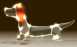 3d model dachshund glass