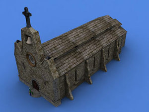 3d model medieval church