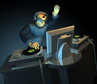dj turntables 3d model