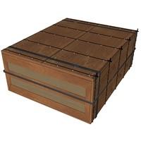 3d cardboard box model