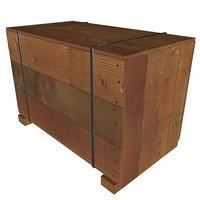 3d box cardboard parcel