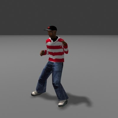 african boy hopscotch 3d model