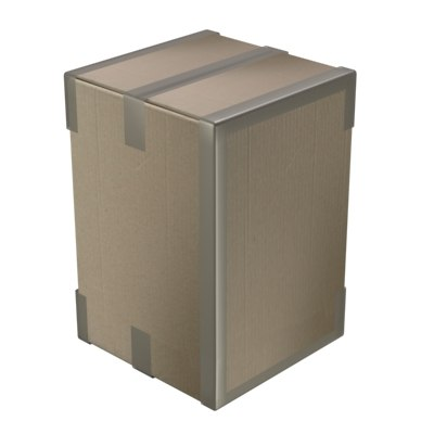 cardboard box 3d lwo