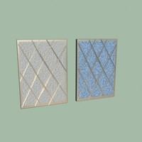 air filters 3d model