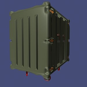 3d case wheels model