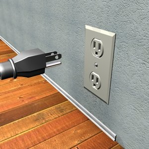 3ds max wall outlet