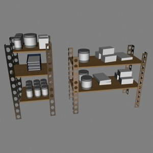 shelves 3d dxf
