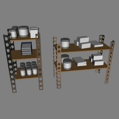 shelves 3d dxf
