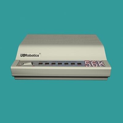 computer modem 3d 3ds