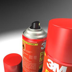 3m spraymout red 3d model