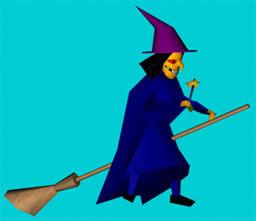 free max model witch cartoon polygonal