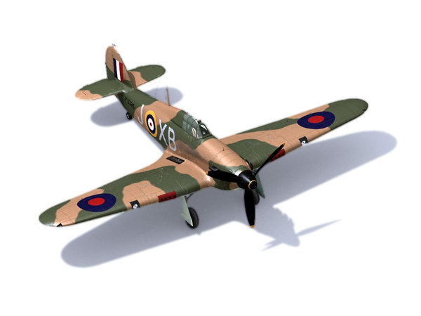hawker battle britain 3d model