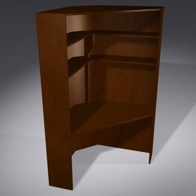 free corner computer desk 3d model