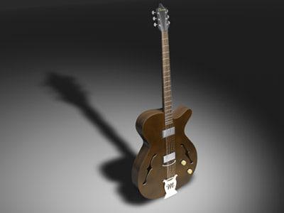 jazz guitar 3d c4d
