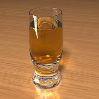 beer glass scenes 3d model