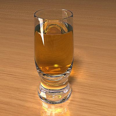 beer glass scenes 3d model