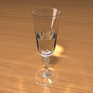 champagne glass scenes 3d model