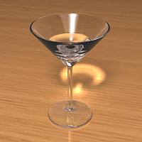 3d model martini glass scenes