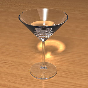3d model martini glass scenes