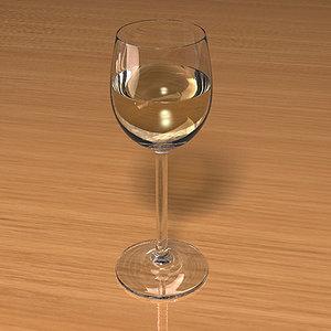 wine glass scenes obj