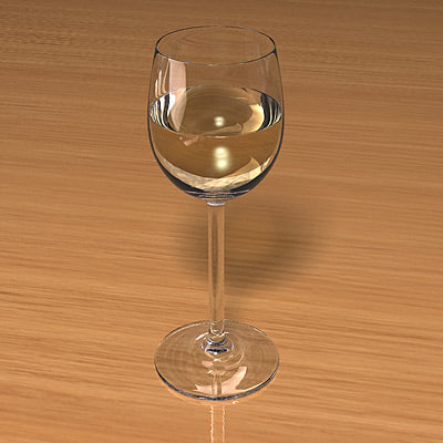 wine glass scenes obj