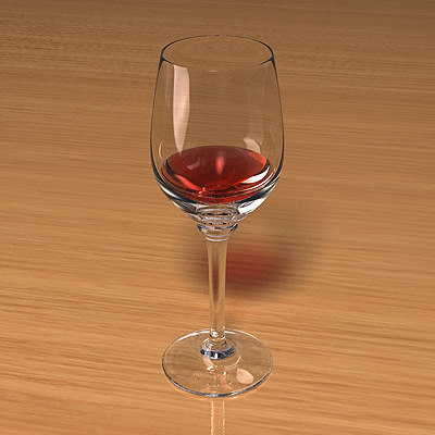 3d model wine glass scenes