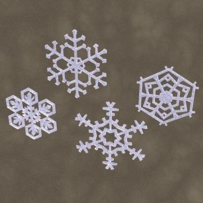 maya snowflakes zipped