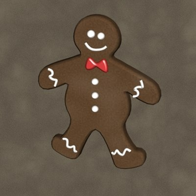 3d model gingerbread man zipped