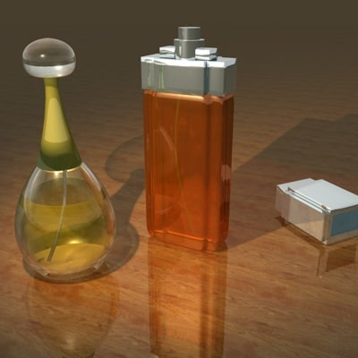 tiffany perfume bottles 3d model