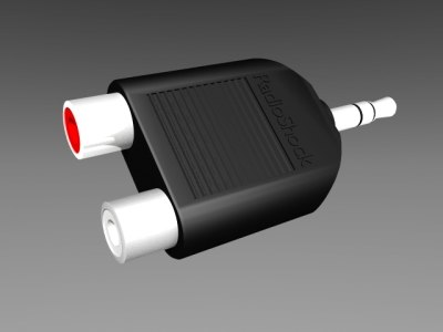 stereo cables 3d model