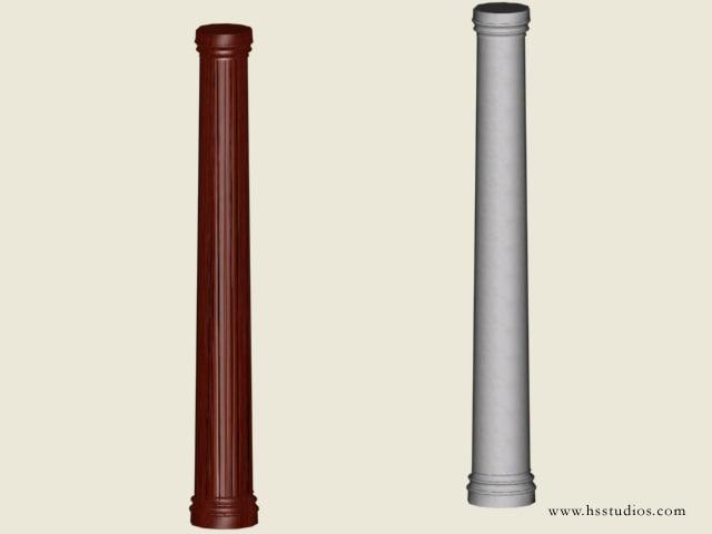 decorative columns zipped 3d model