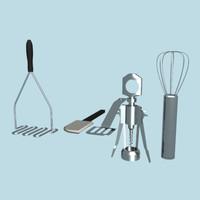 3dsmax set cooking corkscrew