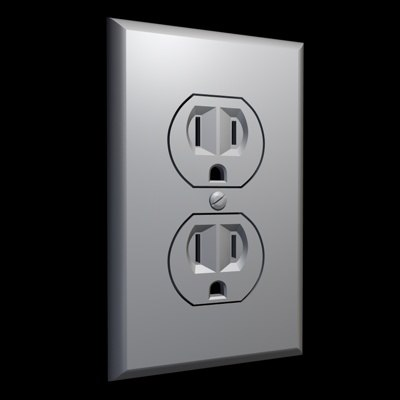 electric outlet 3d model