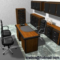 3d office desk furniture model