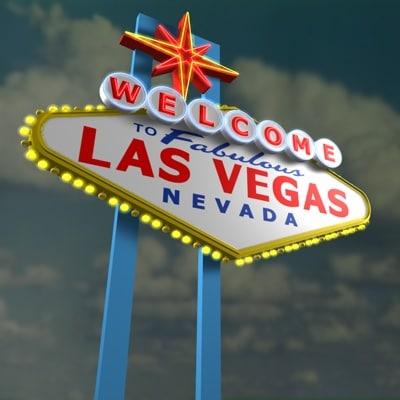 las vegas sign neon 3d model