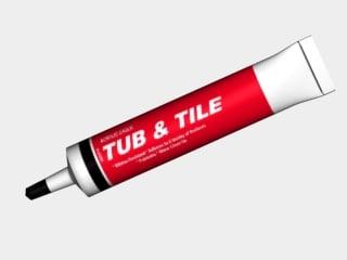 tube caulk 3d model