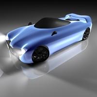 free sport car concept 3d model