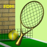 3d tennis ball racket