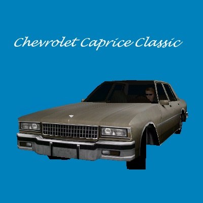 chevrolet caprice classic police car 3d model