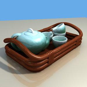 3ds max tea set