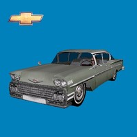3ds max chevrolet impala 58 car