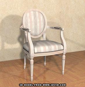 3d model of armchair