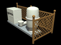 free pool pump equipment 3d model