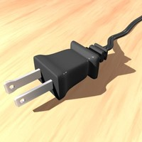 electric plug 3d 3ds