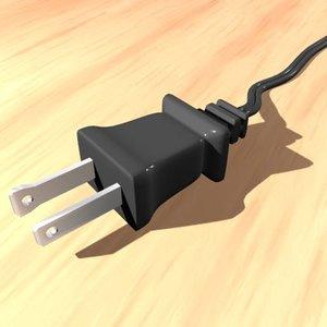 electric plug 3d 3ds