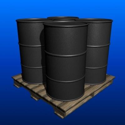 3d max barrels pallet