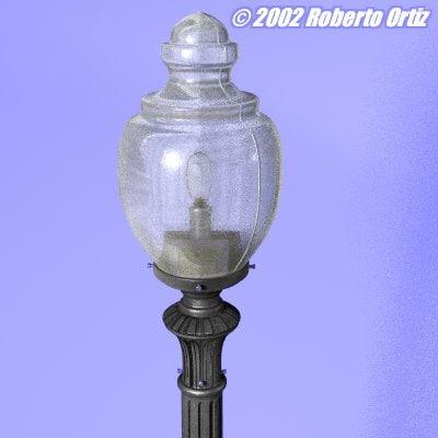 3d model acorn style street light
