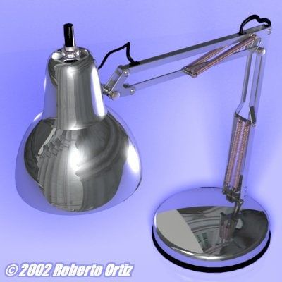 lwo chrome desk lamp